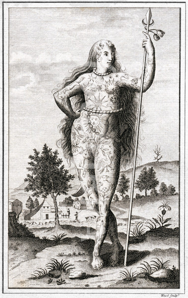 18th century engraving of 'Ancient Briton'