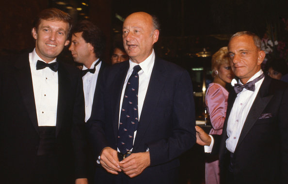 Figure 5. At the opening of Trump Tower, 1983, Manhattan, (left to right) Donald Trump, Mayor Edward I. Koch, Roy Cohn. Credit Sonia Moskowitz/Getty Images
