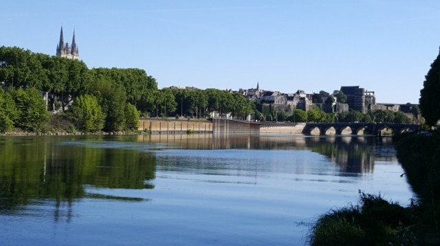 Landscape of Angers and the River Loire